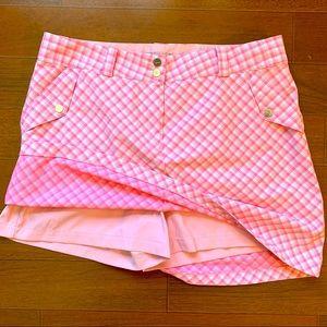 Nike Golf Dri-Fit pink plaid skort